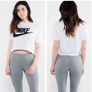White Nike Crop Top